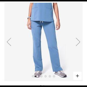 Figs scrubs kade pants ciel blue